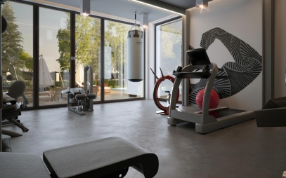 Gym Interior Design in Karol Bagh