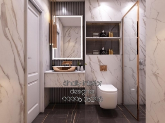 Bathroom Interior Design in Kathputli Colony