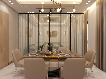 Dining Room Interior Design in Greater Kailash
