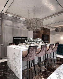 Dining Room Interior Design in Chawri Bazar