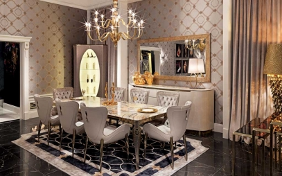Dining Room Interior Design in Kamla Nagar