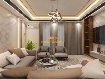 Drawing Room Interior Design in Ajmeri Gate