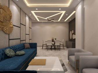 Drawing Room Interior Design in Greater Kailash