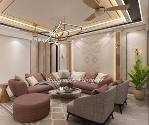 Drawing Room Interior Design in Hauz Khas