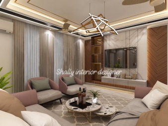 Drawing Room Interior Design in Minto Road