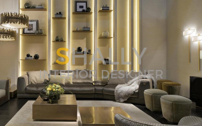 Drawing Room Interior Design in Moti Nagar