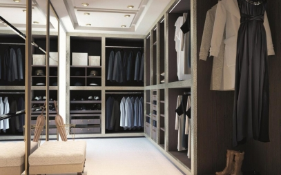 Dressing Room Interior Design in Amar Colony