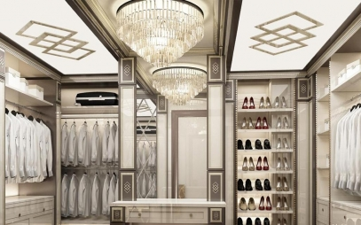 Dressing Room Interior Design in Jahangirpuri