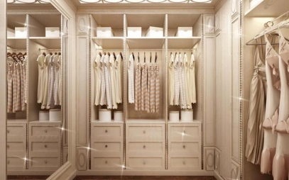 Dressing Room Interior Design in Safdarjang