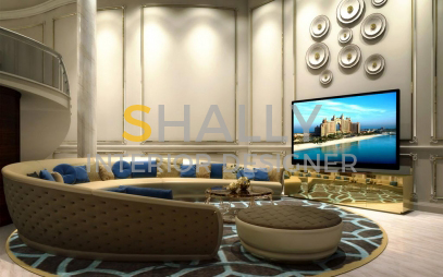 Drawing Room Interior Design in Dwarka