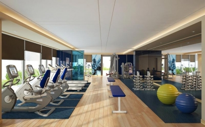 Gym Interior Design in Lodi Road