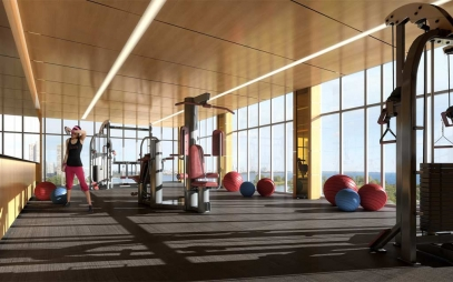 Gym Interior Design in Kathputli Colony