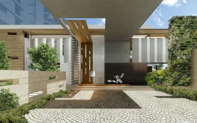 Home Entrance Design in Hauz Khas
