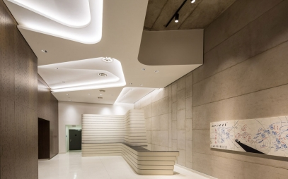 Office Entrance Design in Kalkaji