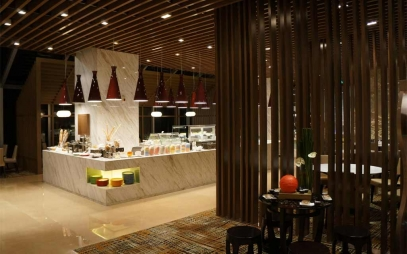 Restaurant Interior Design in Vishnu Garden